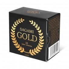 Золотистые презервативы Sagami Gold - 10 шт.