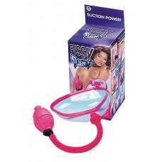 Прозрачная помпа с грушей для клитора и половых губ
