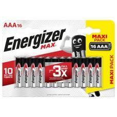 Батарейки Energizer MAX E92 1.5V типа ААА - 16 шт.