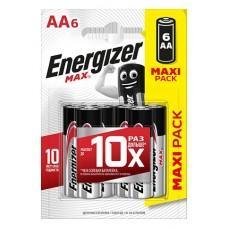Батарейки Energizer MAX E91/AA 1.5V - 6 шт.