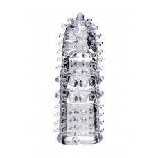 Прозрачная рельефная насадка на палец Arbo - 8 см.