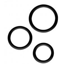 Набор из 3 эрекционных колец SILICONE COCKRINGS